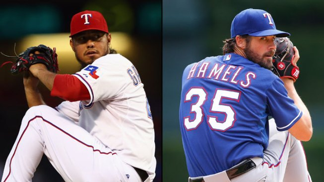 Gallardo, Hamels Set to Start for Rangers in ALDS Games 1-2