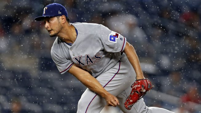 Rangers Lose to Yankees in 10 Innings After Rain Delay