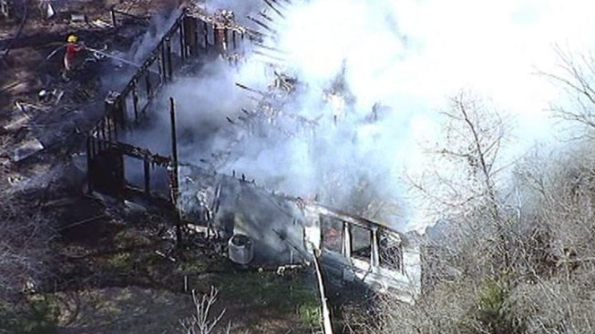 Home Destroyed in Kaufman County Fire