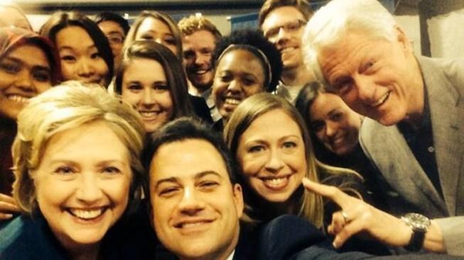 Jimmy Kimmel Poses With the Clintons, Puts a Political Twist on Ellen DeGeneres' Epic Selfie