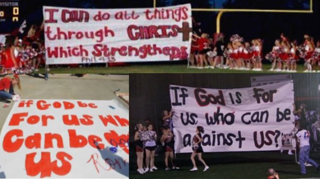 Court: Cheerleaders' Bible Signs Not Threatened