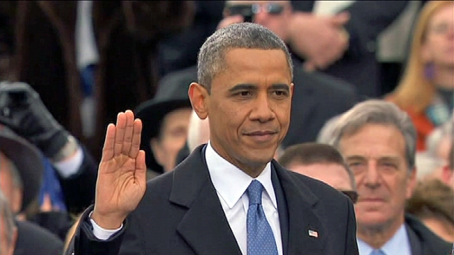 Obama Embarks on First Working Day of Second Term