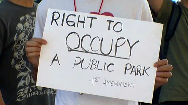 Occupy Dallas Not Occupying Pegasus Plaza