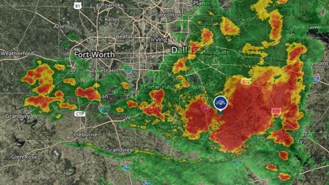Severe Thunderstorm Warnings in Ellis, Henderson, Kaufman
