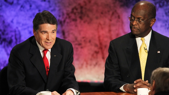 Cain Blames Perry for Reports on Sexual Harassment Allegations