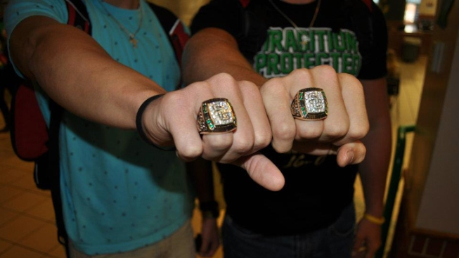 Southlake Carroll Dragons Show Off Championship Bling