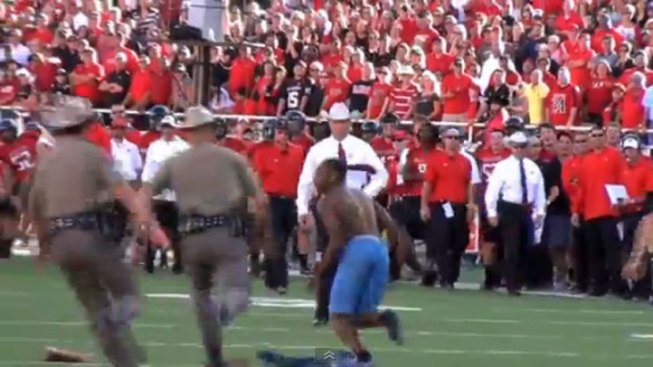 Texas Tech Fan Arrested for Streaking on Field