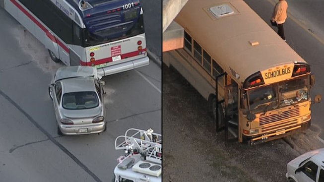 Minor Injuries in Two Fort Worth Bus Crashes