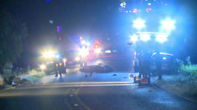 2 Killed When Motorcycle Crashes Into Car, Police Cruiser