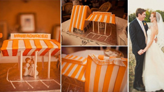 Austin Couple Has a Whataburger Wedding Cake