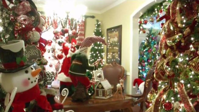 woman decks home with 23 christmas trees nbc 5 dallas fort worth
