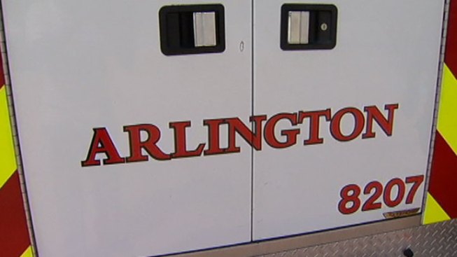 Semi Flips, Catches Fire in Arlington