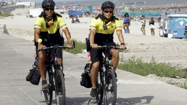 Armed Lifeguards on Patrol on Galveston Island