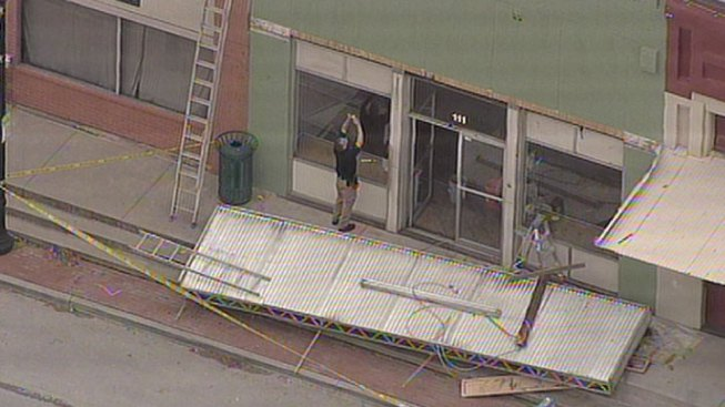 Two Injured in Awning Collapse