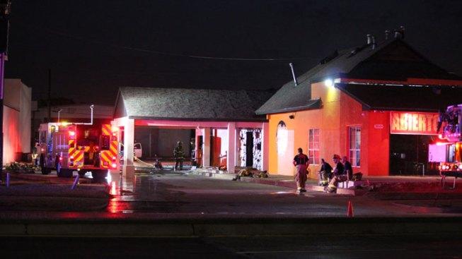 Restaurant Fire Slows Traffic Along Northwest Highway