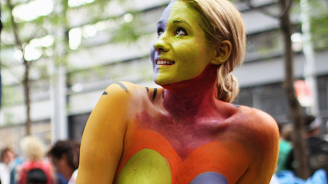 Times Square Artist Wins Right to Bodypaint Nudes in Public