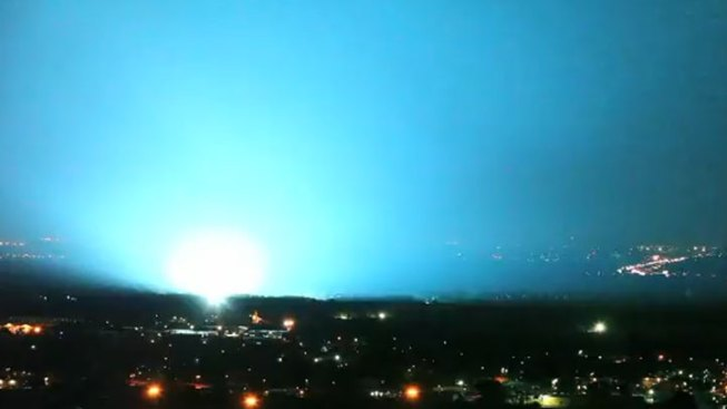 Thunder Storm Leads to Rare Ground Light Show