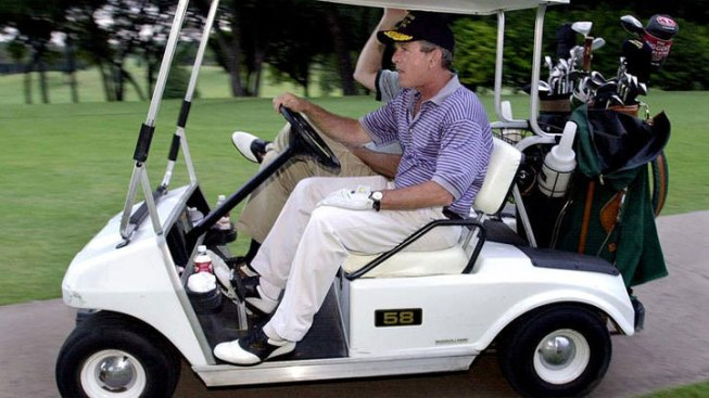 Bush Hosts Golf Tournament for Wounded Military
