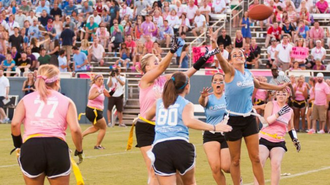 Powder-Puff Blondes vs. Brunettes Game Raises $200,000 for Alzheimer's Association