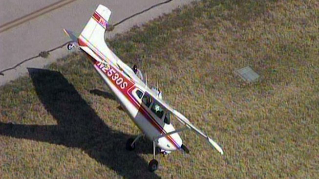 Pilot OK After Plane Upends at Meacham