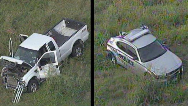 4 Hospitalized After Officer-Involved Crash