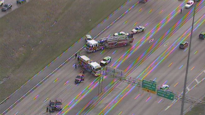 I-635 Reopens After Multi-Car Crash
