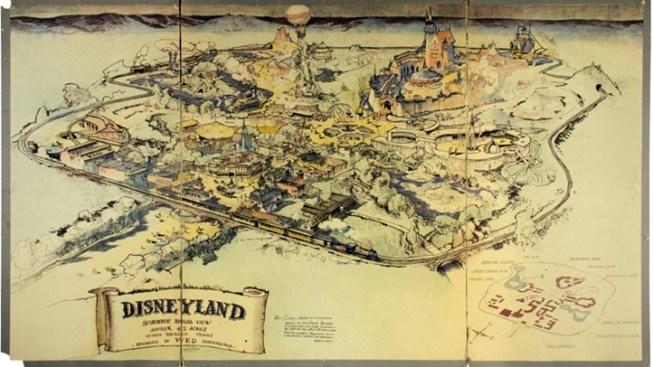 [NATL-LA] 'Rare' Disneyland Hand-Drawn Map Sold at Auction