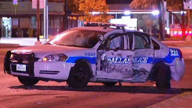 Driver Arrested After Crashing into Police Car