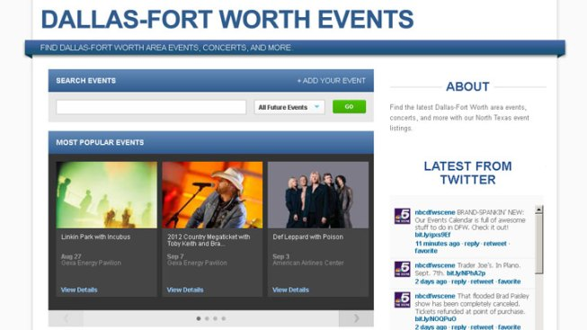 NBCDFW Events Calendar FAQ