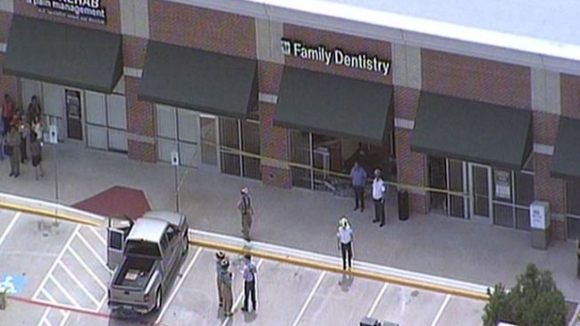 Pickup Crashes Into Red Oak Dentist's Office