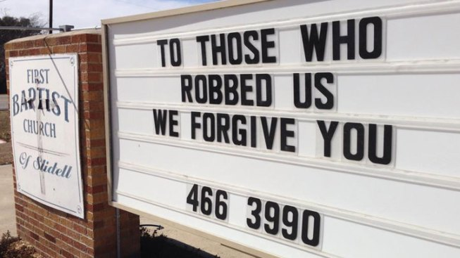 Church Urges Forgiveness For Thieves That Robbed Them
