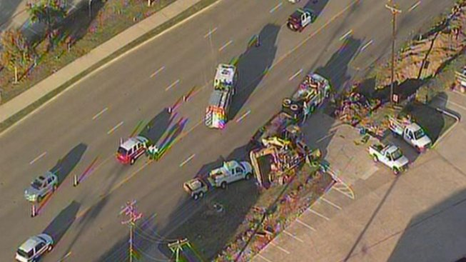 Gas Line Ruptures, Closes FM 1709 in Southlake