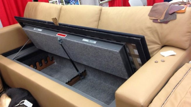 Bulletproof Couch Hides Gun Safe