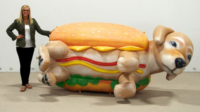 10-Foot Hot Dog to Protest Downtown