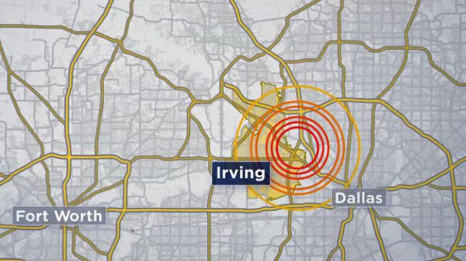 Small Earthquake Reported in Irving Thursday Night