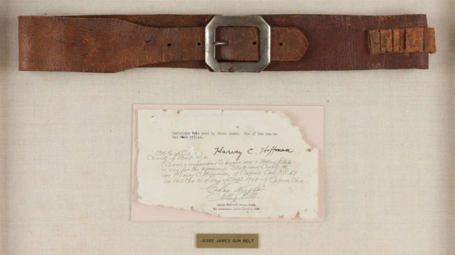 Jesse James Pistol Belt, Other Outlaw Items Up for Auction
