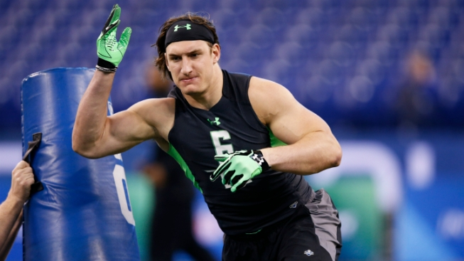 Joey Bosa Met with Cowboys at the Combine