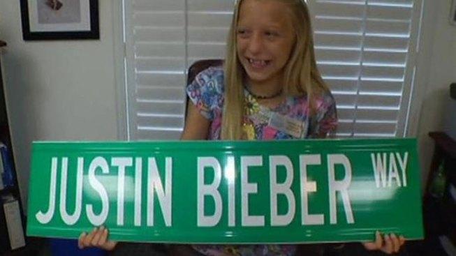 Stolen Justin Bieber Street Sign Found