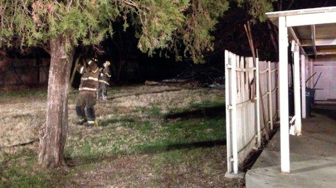 Garage Catches Fire in Fort Worth