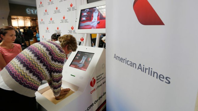 "DFW Airport Passengers Practice ""Hands-Only"" CPR"