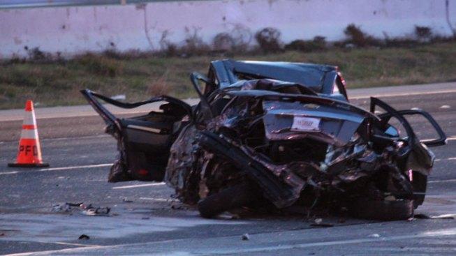 Three Hospitalized After Crashing Into 2 Big-Rigs