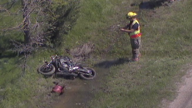 Motorcyclist Crashes After Police Chase