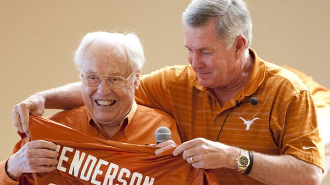 Oldest Living Longhorn Meets Mack Brown