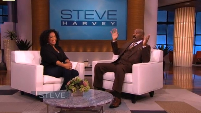 "Oprah Sits Down with Steve Harvey in the ""Ultimate Role Reversal"""