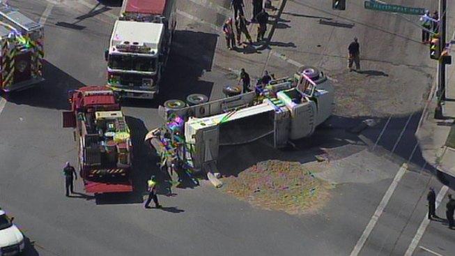 Overturned Truck Stops Northwest Hwy Traffic