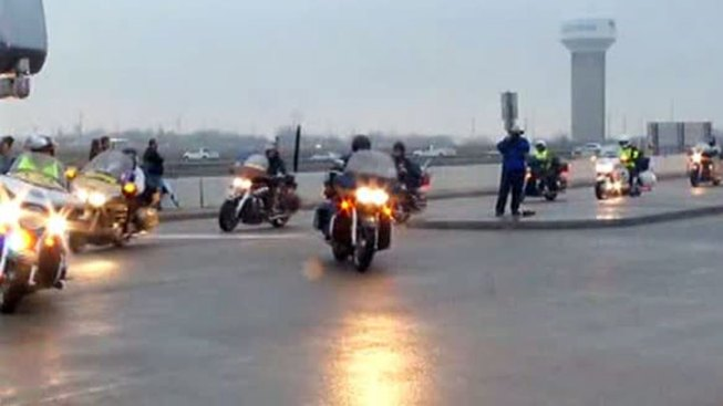 PGR Riders Crash in Chris Kyle Procession