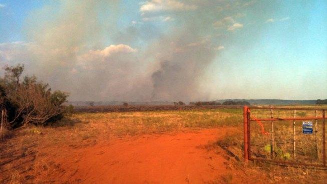 Wildfires Burn Near Possum Kingdom Lake