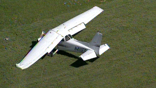 Small Plane Makes Crash Landing
