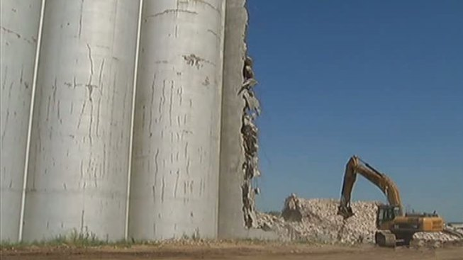 Old Purina Silos Coming Down in Fort Worth