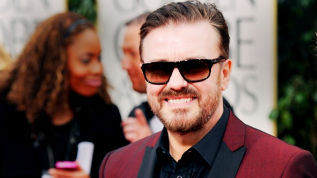 Ricky Gervais Sets the Tone Early at Golden Globes, Then Backs Off